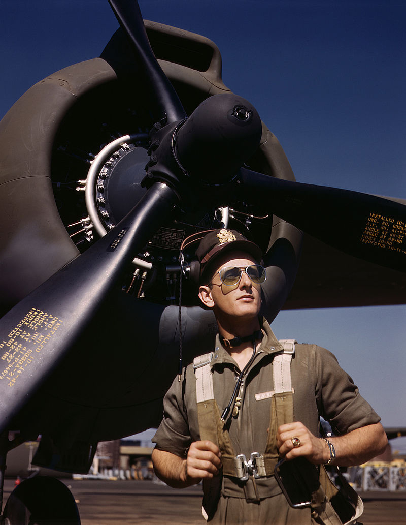 A US Army Air Forces test pilot